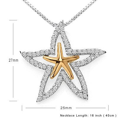 STARFISH Romantic Diamond Necklace Party Disco Gift