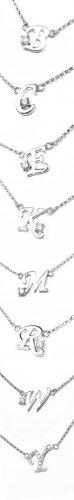 BIRTHDAY GIFT Diamond Alphabet Name Pendant NECKLACE