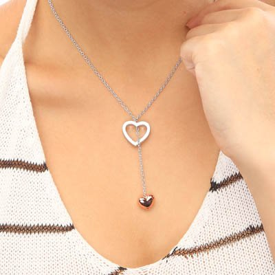 Love Heart 2 Styles Heart Wedding Gift Jewelry NECKLACE