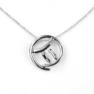 Gemini Horoscope Zodiac Birthday gift Silver Necklace