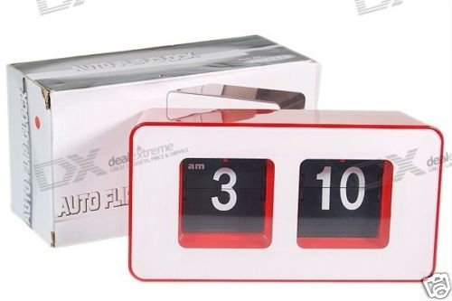 Flip Digit Desktop Clock (Red)