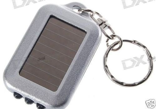 3-LED  Solar Powered Self-Recharge Flashlight key chain