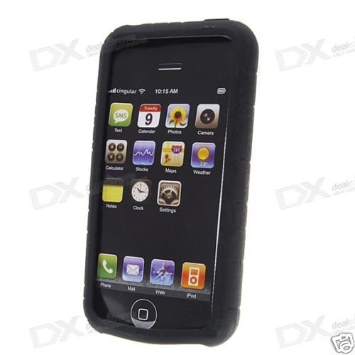 Silicone Case for  Apple iPhone (Black)