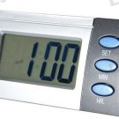 LCD Blue Backlit Talking Time Alarm Clock (English)