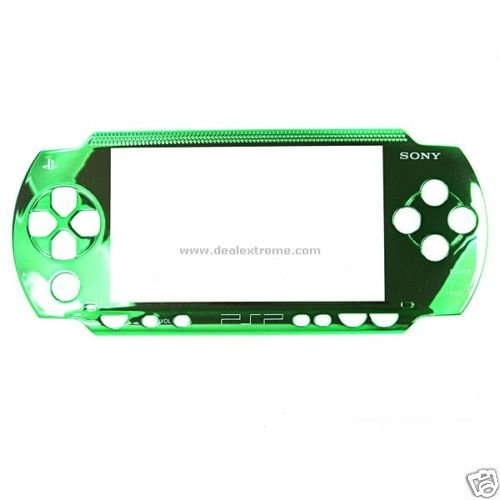 Metallic Green Face Plate for sony PSP
