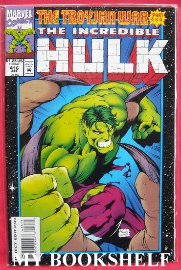 Marvel Comics Incredible Hulk Troyjan War # 416 1994