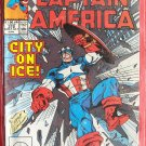 Marvel Comics Captain America City on ice # 372 1991