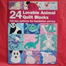 24 Lovable animal quilt blocks softcover ISBN 1590121309