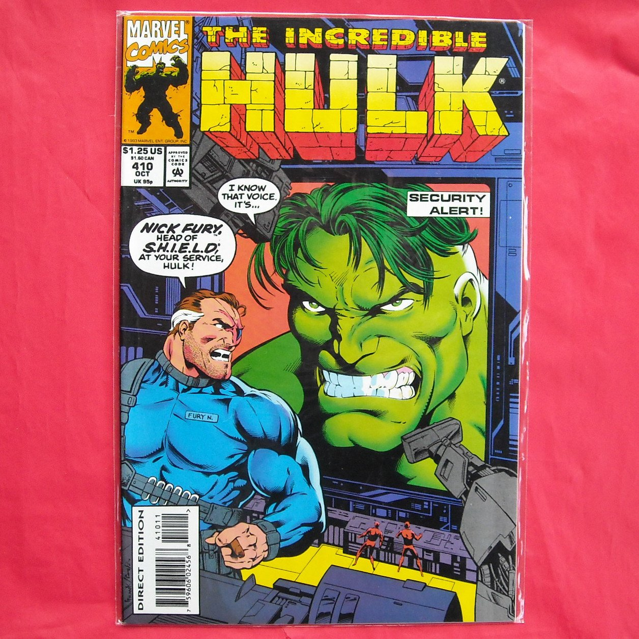 Marvel Comics Incredible Hulk Security Alert # 410 1993
