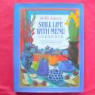 Still life with menu cookbook hardcover