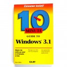 10 Minute Guide to Windows 3.1 First Edition 1992
