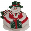 Christmas Snowman Canape Plate Collectible Fitz and Floyd Holiday