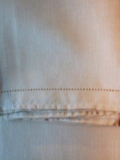 Pale Yellow Gold Fabric Hemstitch Tablecloth
