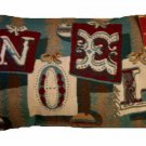 Christmas Pillow Tapestry Noel Trimmings
