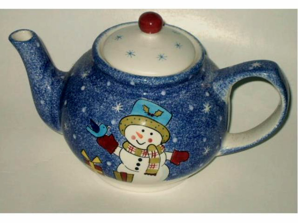 Frosty Snowman Ceramic Tea Pot