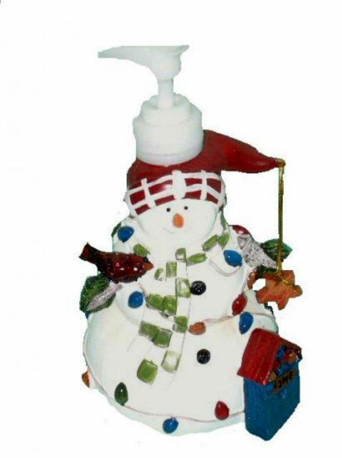Christmas Snowman Lotion Dispenser Soap Pump Holiday Decor