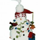 Christmas Snowman Lotion Dispenser Soap Pump Holiday Decor