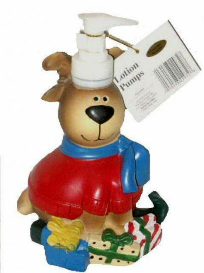 Christmas Reindeer Soap Pump Lotion Dispenser Holiday Bath Decor