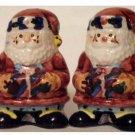 Christmas Stitched Santa Salt Pepper Shakers