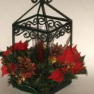 Christmas Poinsettia Centerpiece Tabletop Lantern