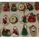 Mini Christmas Ornaments 18 Various Lot Giftco
