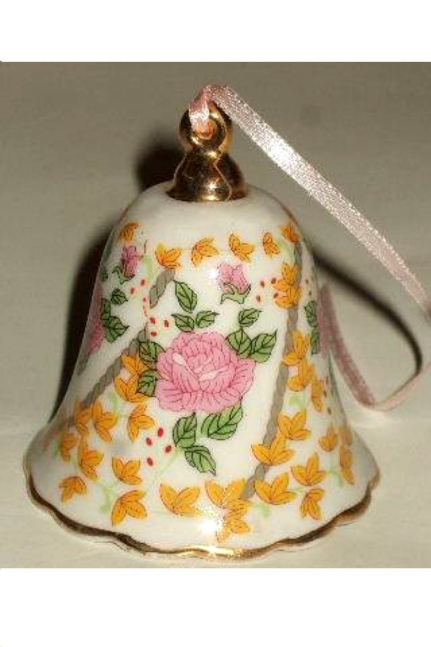 Floral Bell Christmas Ornament Victoria Collection