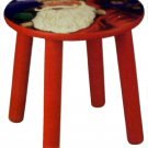 Child's Christmas Stool Santa Claus