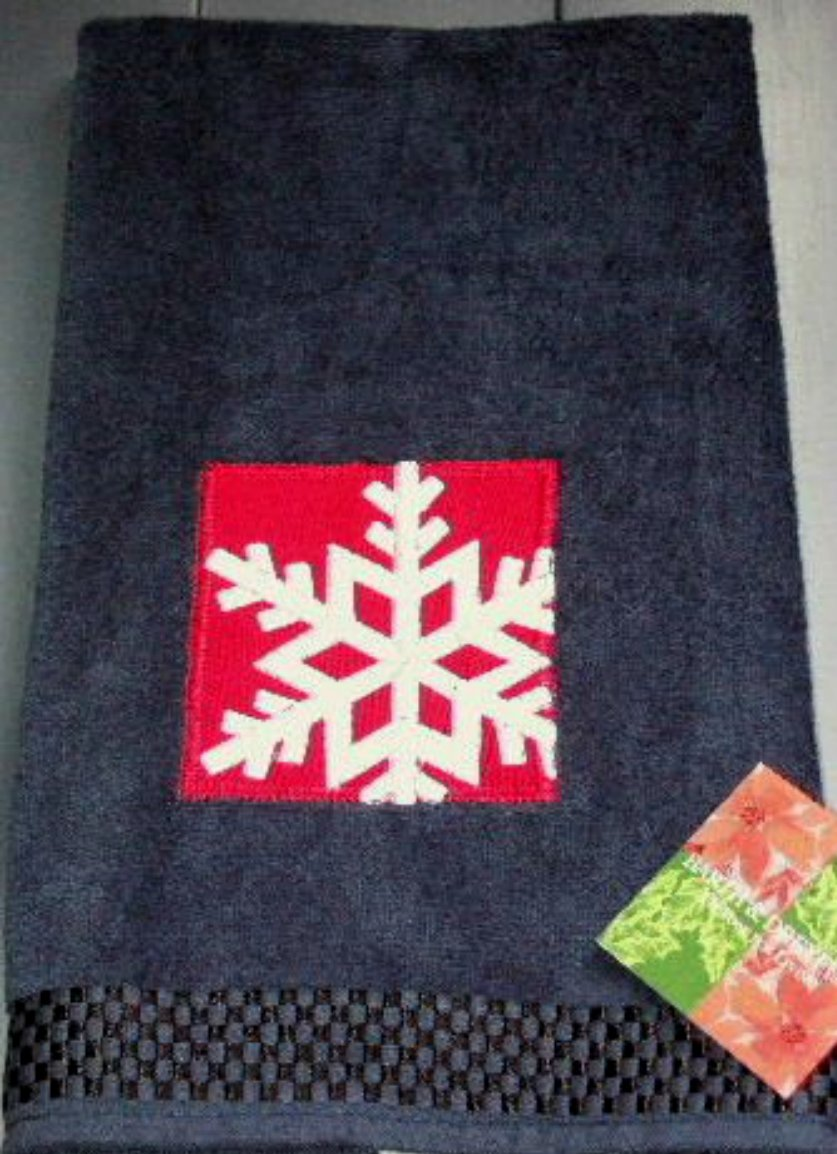 Christmas Snowflake Hand Towels Barth and Dreyfuss