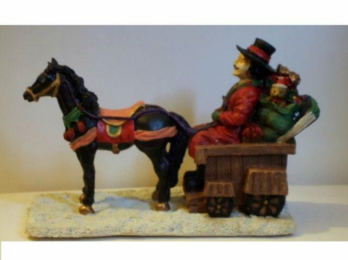 Christmas Figurine Horse and Sleigh with Toys