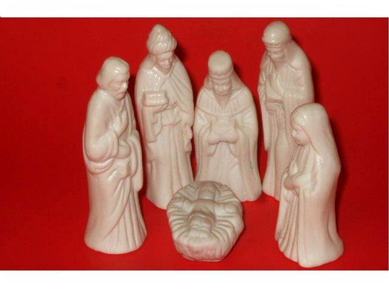 Porcelain Christmas Nativity Scene