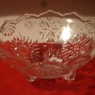 Glass Snowflakes Footed Bowl