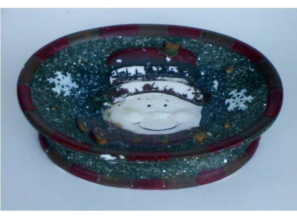 Ceramic Snowman Soap Dish