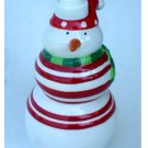 Snowman Soap Pump Lotion Dispenser Ceramic