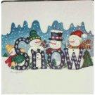 2 Snowman Trivets Hot Pads Range Kleen Christmas Kitchen Decor
