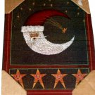 Cosmic Moon and Stars Santa Picture Wall Art