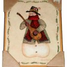 Musical Snowman Picture Wall Art Plaque