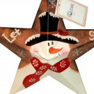 Snowman Star Christmas Decoration Holiday Decor
