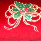 Christmas Neck Roll Pillow Embroidered Holiday Home Decor