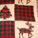 Christmas Throw Trees and Reindeer Holiday Decor