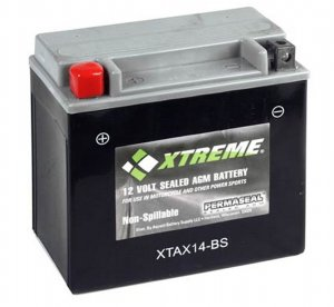 BATTERY  Xtreme AGM Permaseal XTAX14-BS