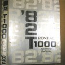 1982 Pontiac T 1000 Service Manual