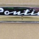 1953 54 Pontiac intrumental panel name plate