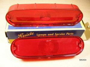 1961 62 Pontiac Tempest NOS tail lamp lens pair