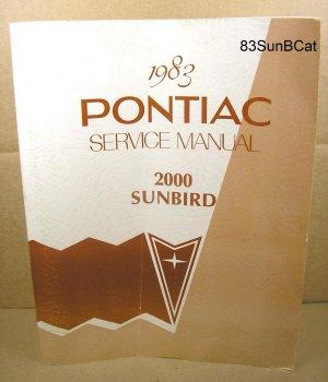 1983 Pontiac Sunbird Service Manual