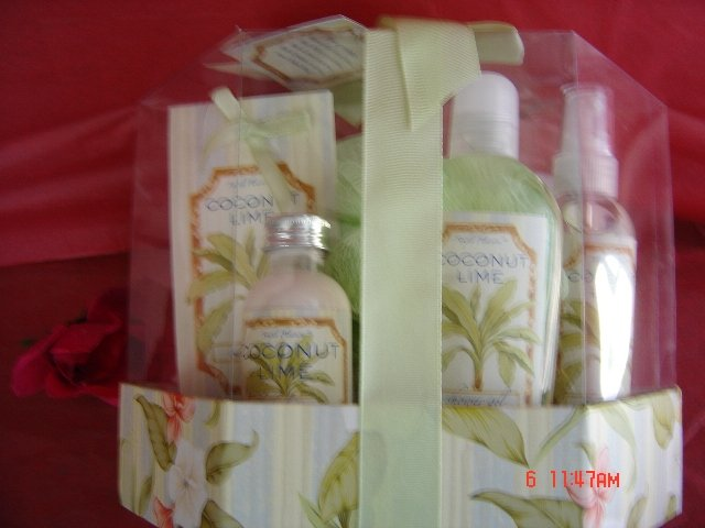 COCONUT LIME 5 PC TRAVEL BATH SET
