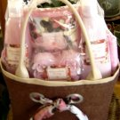 CHOCOLATE BERRY 5 PC BATH SET W/ SCARF TOTE