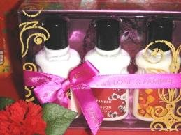 BATH & BODY WORKS 3 BOTTLE 2 OZ EXOTICS BODY LOTIONS GIFT SET
