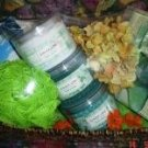 GINGER LIME 7 PC FOOT THERAPY CARE SET W/ WOVEN BASKET