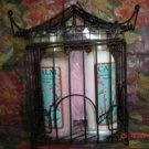 SWEET CHERRY BLOSSOM 5 PC BATH SET W/ SMALL BIRD CAGE