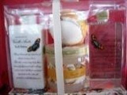 VANILLA AMBER 3 PC TRAVEL SPA BATH SET